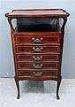 Early 20th century mahogany tray top serpentine music cabinet