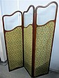 Early 20th century mahogany three tiered screen