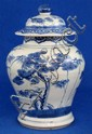 Chinese blue and white jar with cover,