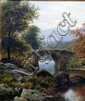 Thomas Spinks, landscape with a bridge, signed and dated 1878, oil on canvas