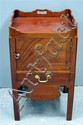 George III mahogany tray top commode,