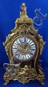 18th century French boulle and ormolu mounted Twenty eight day mantel clock in the Rococo manner by Claude Meunier A Paris