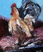 § Lorna Miller (Irish) - Cockerel, oil on board, signed, 23 x 20in