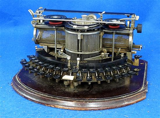 American pre Qwerty typewriter by Multiplex, Hammond,