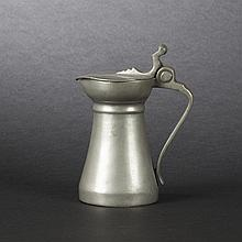 Rare small truncated cone pewter pitcher, 18th-19th Century