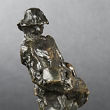 Gaston Broquet. Travailleur portant une buche, bronze