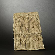 Limestone low-relief panel. Spain (?), 16th-17th Century