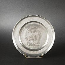 Pewter plate. Annaberg (Saxony), circa 1800