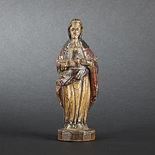 The Sacred Heart of Jesus in carved wood. Hispanic colonies, 19th Century