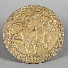 Circular bronze plaque, Neo-Greek Style