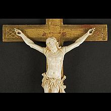 Crucifix with Christ in ivory, late 18th Century