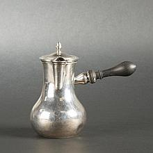 Small plain silver egoiste coffee pot