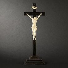 Crucifix with Christ in ivory, 18th Century