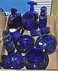 Bx - Eleven Pcs Cobalt Blue Glass