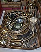Box of Silverplate Holloware