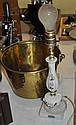 Brass Bucket & Boudoir Lamp
