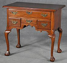 New England Walnut Lowboy/Dressing Table