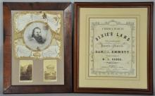 Two Framed Southern Ephemera Items