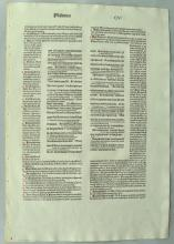 Printed Bible Leaf in Latin