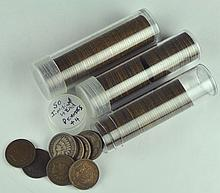 Three Rolls of Indian Cents