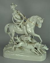 Very Nice Hunt Scene Figural by Royal Dux