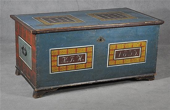 Paint Decorated European Dower Chest