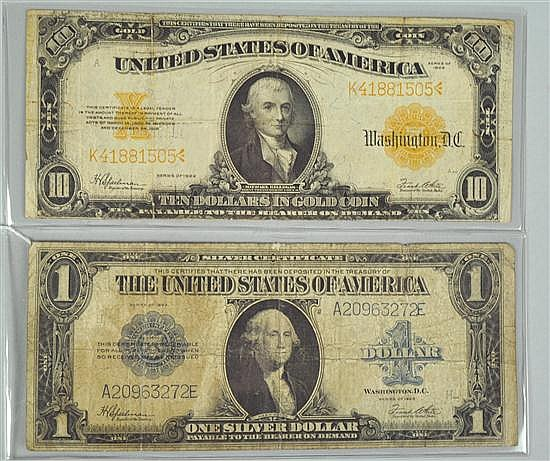 1922 Series $10 Gold Certificate
