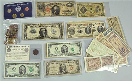 Currency Lot - US & Foreign