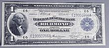 Series of 1918 $1 Federal Reserve Bank Notes