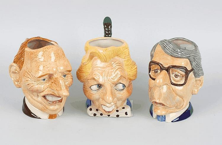 Three Kevin Francis 'Spitting Image' character jugs