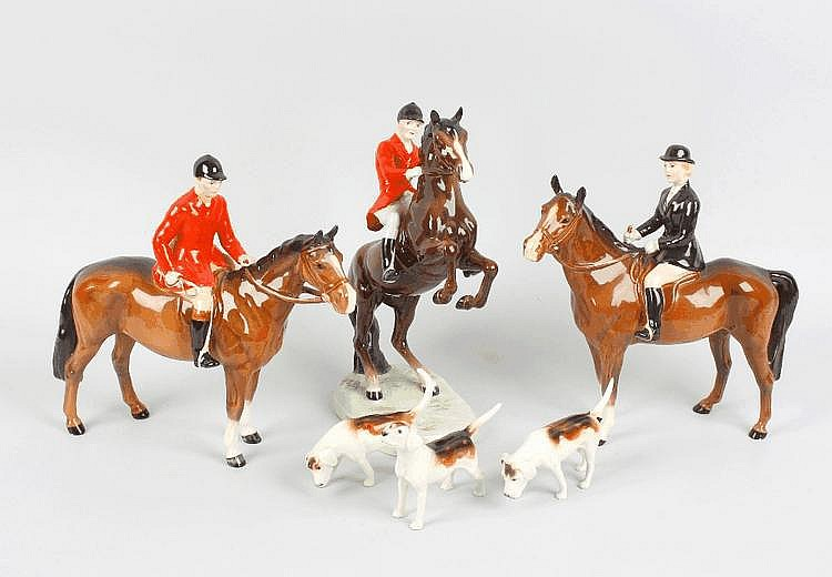 A Beswick hunting group