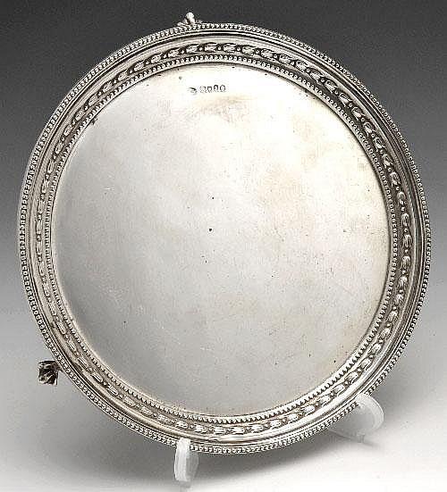 Victorian silver salver.