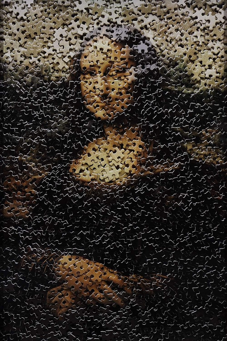Vik MUNIZ (born in 1961)-Mona Lisa, after Leonardo da Vinci (Gordian Puzzles), 2009
