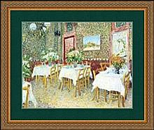 INTERIOR OF A RESTAURANT BY VINCENT VAN GOGH