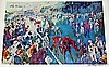 PADDOCK AT CHANTILLY c. 1992 BY LEROY NEIMAN
