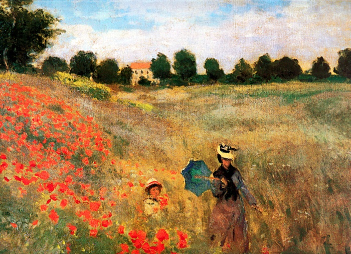 Poppies Argenteuil - Monet - Limited Edition on Canvas