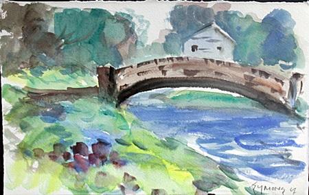 Original Water Color by Gardner Symons