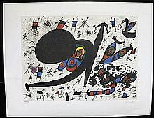 Limited Edition Lithograph By Joan Miro