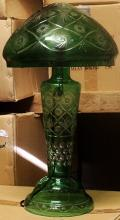 Gorgeaous Green Turkey Crystal Mushroom Lamp