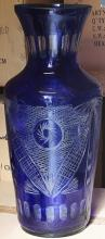 Fancy Blue Turkey Crystal Vase