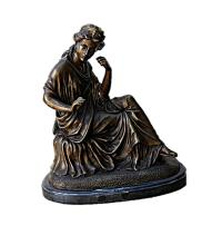 Bronze Sculpture -  Girl looking at the Water (N-208E)