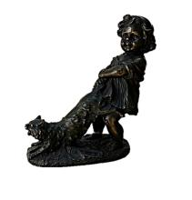 Bronze Sculpture -  Playing with the Cat (N-218E)