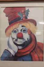 Original 1947 By Red Skelton- Holly Clown on Canvas