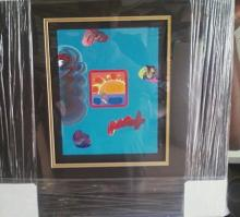 Framed By Peter Max-Sunset Sail