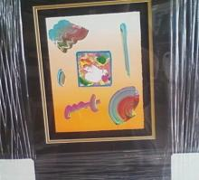 Framed By Peter Max-Flower Blossom Lady