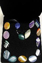 AMETHYST, AMBER,CYTRINE,JADE AND LAPIS NECKLACE