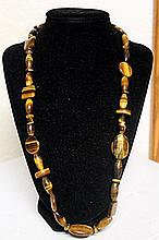 LADIES BEAUTIFUL TIGER EYE NECKLACE