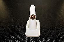 Unisex Beautifull 18 kt White Gold over Sterling Silver Alexandrite Ring.JA2419