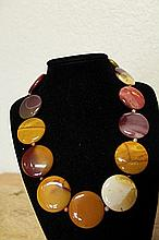 Amethyst Tiger Eye Rose Agate Garnet Necklace