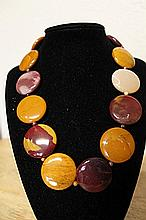 Fancy Silver Tiger Eye Necklace